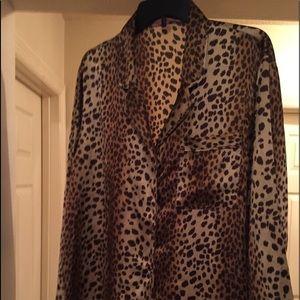 Victoria's Secret long sleeve animal print PJ top